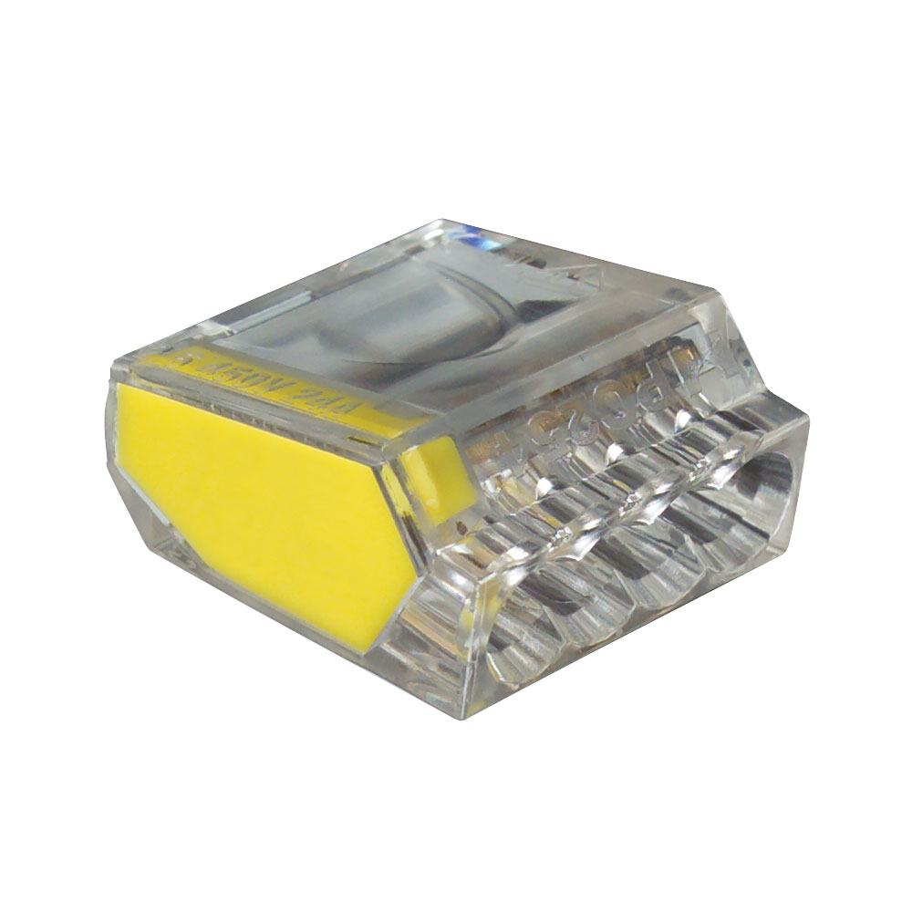 Yellow port pushgard push in wire connector box of
