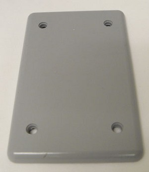 Single Gang Blank Cover with gasket