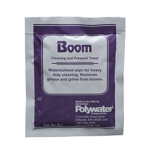 Prewash Wipe for Boom Maintenance