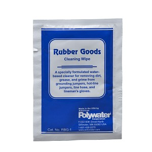 RBG™ Rubber Goods Cleaner Saturated Wipe