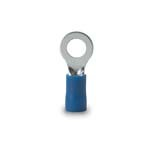 Ring Terminal, 16-14 Awg, Stud Sz 12-1/4, Blue - CLAMSHELL of 100