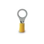 Ring Terminal, 12-10 Awg, Stud Sz 1/4-3/8, Yellow - CLAMSHELL of 50