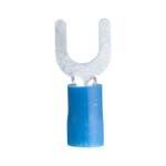 Spade Terminal, 16-14 Awg, Stud Sz 4-6, Blue - CLAMSHELL of 100